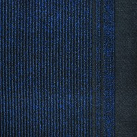 Typhoon Hall Runner 68cm Wide Rubber Backed Hallway Carpet Blue