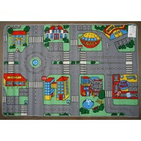 Children's Rug Play Mat TRAFFIC PLUS Kids Activity Cars 94cm x 133cm