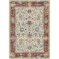 Fiano Polyester Rug 160cm x 230cm Red Transitional Floor Rugs 7192