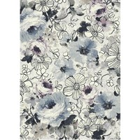 Bayliss Rugs Kensington Bouquet Modern HeatSet Poly Rug 200cm x 300cm Blue