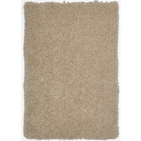 Lugano Sand Shaggy Plush Rug Luxurious Polyester 70cm x 140cm Floor Area Carpet