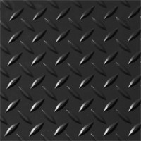 Checker Plate Garage Sheet Vinyl Flooring 2m Wide Black