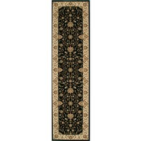 Empire Yan Hall Runner Traditional Black Floor Rugs 80cm x 300cm