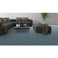 Godfrey Hirst / Hycraft Carpets eco+ Triexta Cut Pile Twist Carpet Flooring Soft Embrace Blue Lagoon