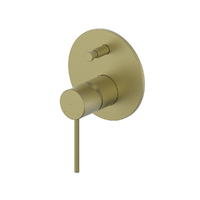 Greens Tapware Bathroom Shower Mixer Tap Diverter Gisele Brushed Brass 18403596