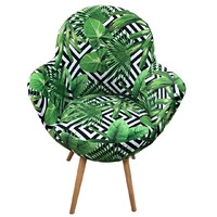 Gora Chair Green Armchair Bedroom Lounge Visitors Fern Fabric