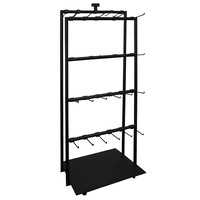 Commercial Shop Fit Out Metal Clothing & Jacket Hanger Clothes Rail Stand Black Double