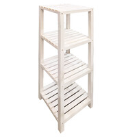 Wooden Shelf 4 Tier Flower Pot Storage Shelves Plant Stand