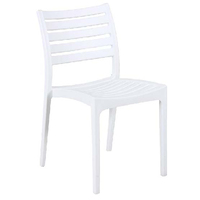 Outdoor Stackable Chair Dining Furniture Seating Ava PP White