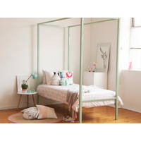 Hypersonic Bed Metal Single Pastel Green Willow - Frame Only