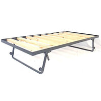 Hypersonic Single Bunk Bed Trundle Metal with Castors