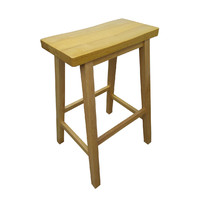 Zen Timber Bar Stool 680mm Natural Wood