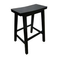 Zen Bar Stool 680mm Kitchen Height Black Timber