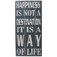 Decorative Wall Sign Picture  Happiness 970mm x 460mm
