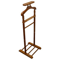 Swan Wooden Jacket Coat Hanger Clothes Rail Stand