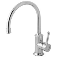 Phoenix Tapware Sink Mixer Kitchen Tap 220mm Gooseneck Chrome Nostalgia NS733 CHR