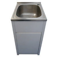 Instyle Bathware Laundry Cabinet Compact PVC Stainless Steel Trough BPLT45
