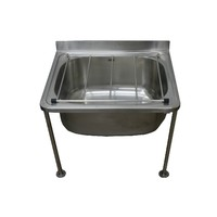 Cleaners Mop Sink Stainless Steel Trough with Legs Laundry Tub 450mm x 555mm