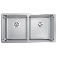 Abey Kitchen Sink Double Bowl Inset 304 Stainless Steel Lago LG200
