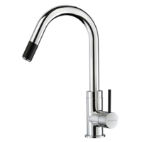 Methven Kitchen Sink Mixer with Pull Out Spray Faucet Tap Chrome Black Culinary Accent 01-0318