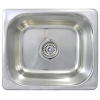 SE3 Small Kitchen Bar Sink 15L Inset Single Bowl 355 x 305 x 130mm