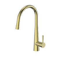 Greens Tapware Kitchen Sink Mixer Tap Pull-Down Brushed Galiano Nickel 17520311