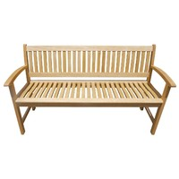 Lucca Natural 3 Seater Timber Outdoor Park Bench 1500mm
