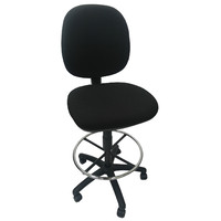 Drafting Chair Gas Lift Stool Medium Back Ergonomic Office Furniture YS Design Echo Black