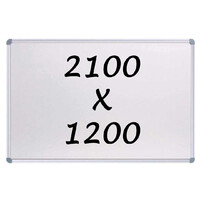 Whiteboards Direct Magnetic Whiteboard 2100mm x 1200mm Writing Board Commercial 10y Warranty