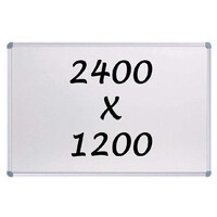 Whiteboards Direct Magnetic Whiteboard 2400mm x 1200mm Writing Board Commercial 10y Warranty