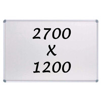 Whiteboards Direct Magnetic Whiteboard 2700mm x 1200mm Writing Board Commercial 10y Warranty