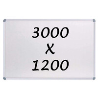 Whiteboards Direct Magnetic Whiteboard 3000mm x 1200mm Writing Board Commercial 10y Warranty