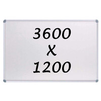 Whiteboards Direct Magnetic Whiteboard 3600mm x 1200mm Writing Board Commercial 10y Warranty