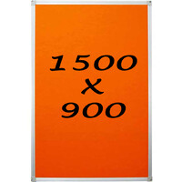 Whiteboards Direct Pin Board Felt Display Notice Pinboard 1500mm x 900mm