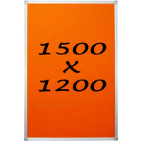 Whiteboards Direct Pin Board Felt Display Notice Pinboard 1500mm x 1200mm