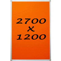 Whiteboards Direct Pin Board Felt Display Notice Pinboard 2700mm x 1200mm