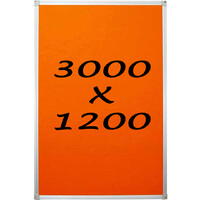 Whiteboards Direct Pin Board Felt Display Notice Pinboard 3000mm x 1200mm