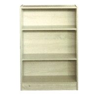 3 Shelf Bookcase Bookshelf 895mm x 610mm x 336mm Melamine Natural Oak