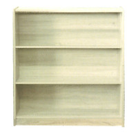 Riteway 3 Shelf Bookcase Bookshelf 895mm x 830mm x 336mm Melamine Natural Oak