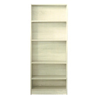 5 Shelf Bookcase Bookshelf 1496mm x 640mm x 336mm Melamine Natural Oak