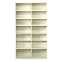 Riteway 7 Shelf Bookcase Bookshelf 2100mm x 1205mm x 336mm Melamine Natural Oak