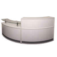 Rapidline Modular Reception Desk Front Office Counter Module Desk Mod 1 and Mod 2 Warm White