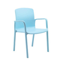 Sylex Healthcare Seating Antimicrobial Plastic Chair With Arms Florey