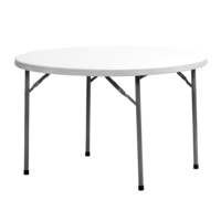 Sylex Round Folding Table 1500mm x 740mm Fortress Planet White