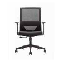 Office Desk Chair Mesh Back with Arms UTAH Black