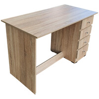 Student Study Desk for Home Office 1200mm Wide + 4 Drawers Writing Table Furniture Riteway Natural Oak