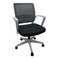 Office Chair Mesh Back Support Furniture Seating YS Design Alamo YS0232 Grey