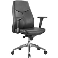 Style Ergonomics Executive Seating Adjustable Medium Back Chair Black PU HUME-L