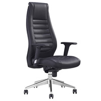 Style Ergonomics Executive Seating Adjustable High Back Chair Black PU BOSTON-H