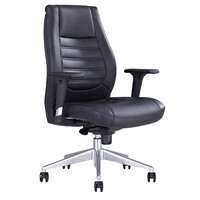 Style Ergonomics Executive Seating Adjustable Medium Back Chair Black PU BOSTON-L